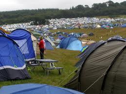 Campingtält.