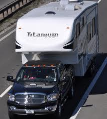 En husvagn.